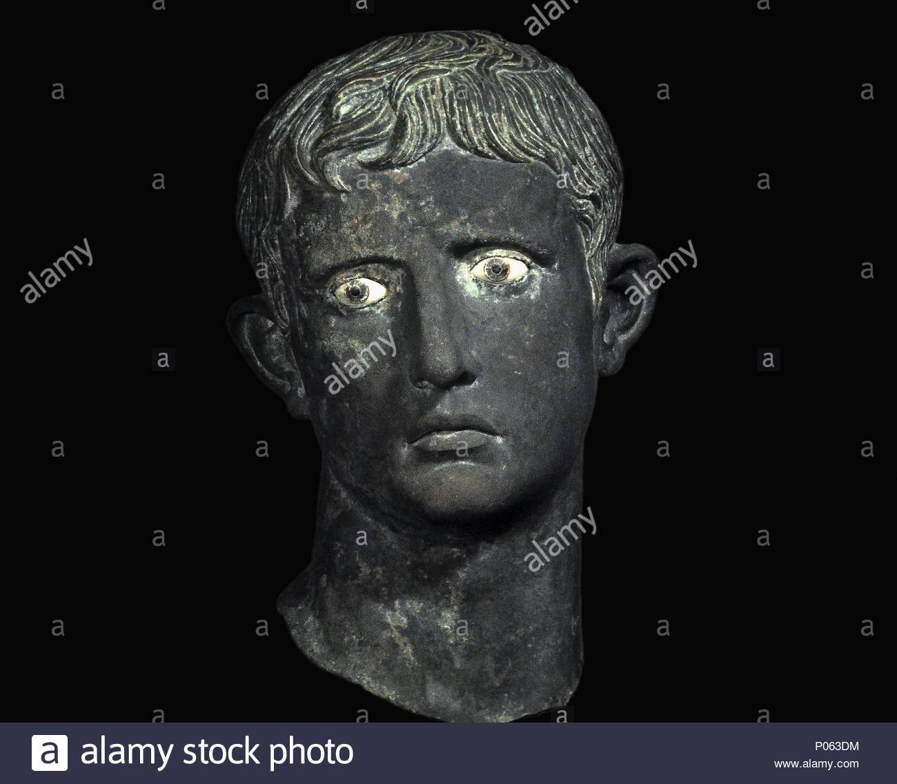 Bronze Leiter Der Kaiser Augustus Von Meroe Sudan 27 25 Ce Teil