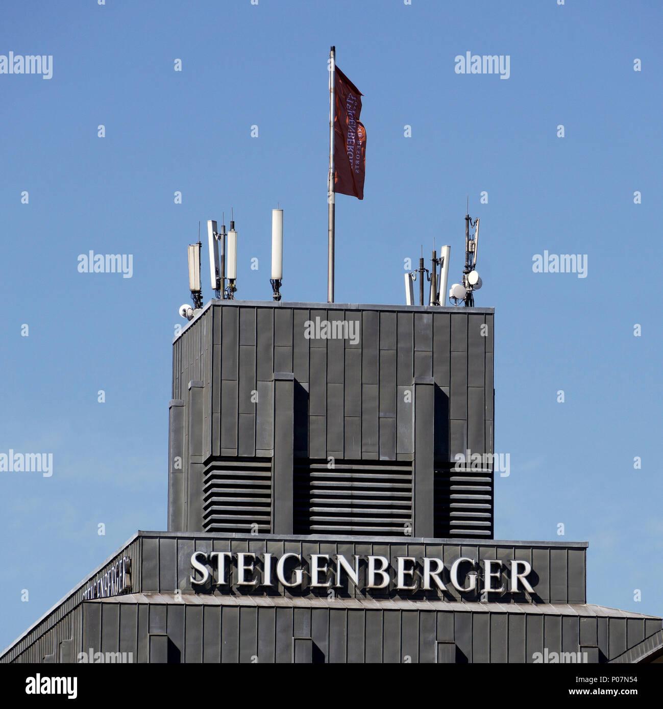 Hamburg Deutschland 6 Juni 2018 Auf Dem Dach Des Steigenberger