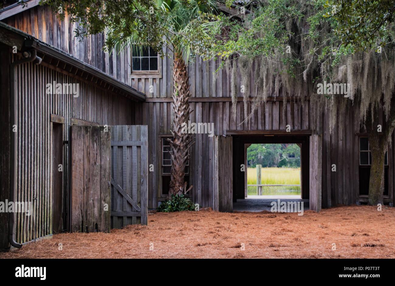 Boone Hall Plantation, Gebäude, South Carolina, Mount Pleasant Stockbild