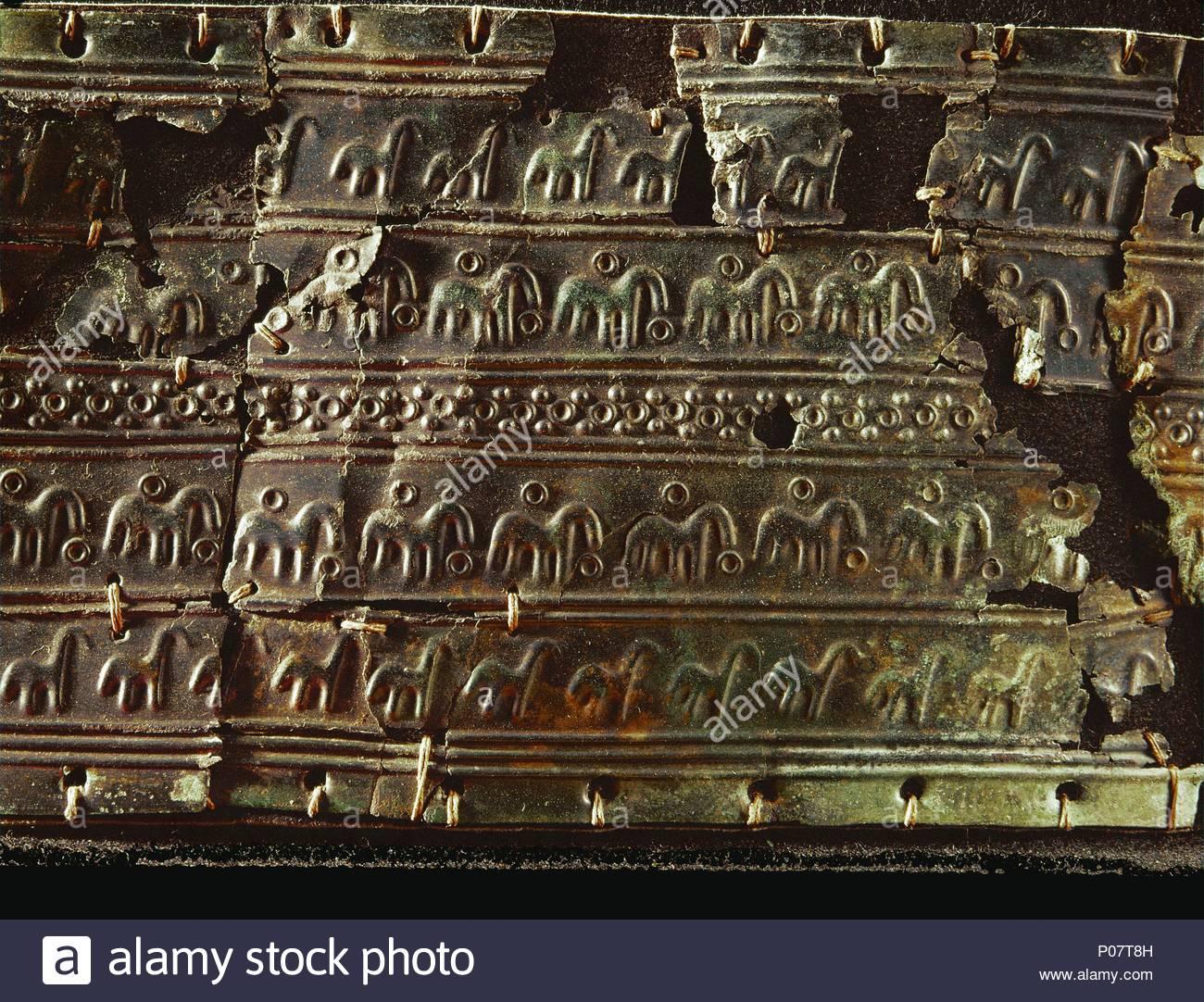 Blatt Bronze Gürtel Mit Haken Aus Hallstatt österreich Breite 9