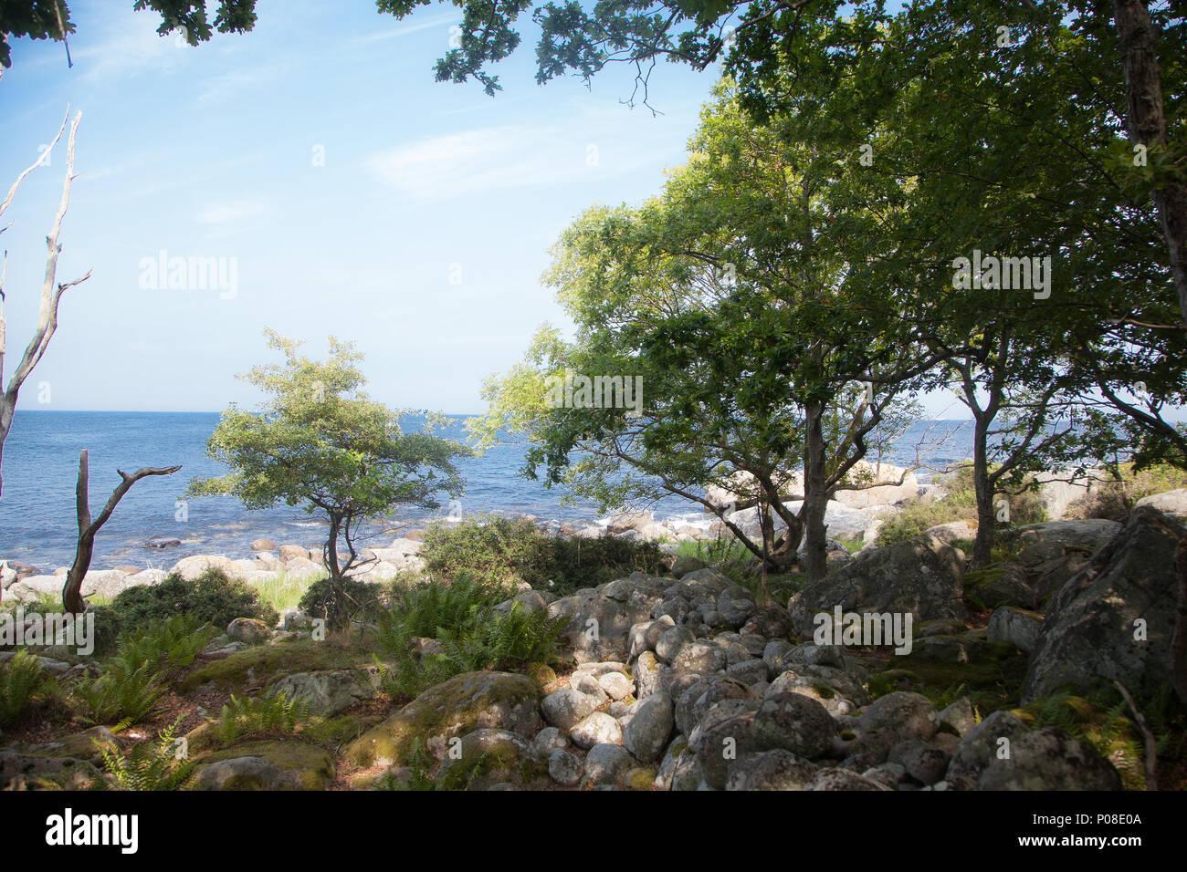 Insel Hanö Südschweden Stockbild