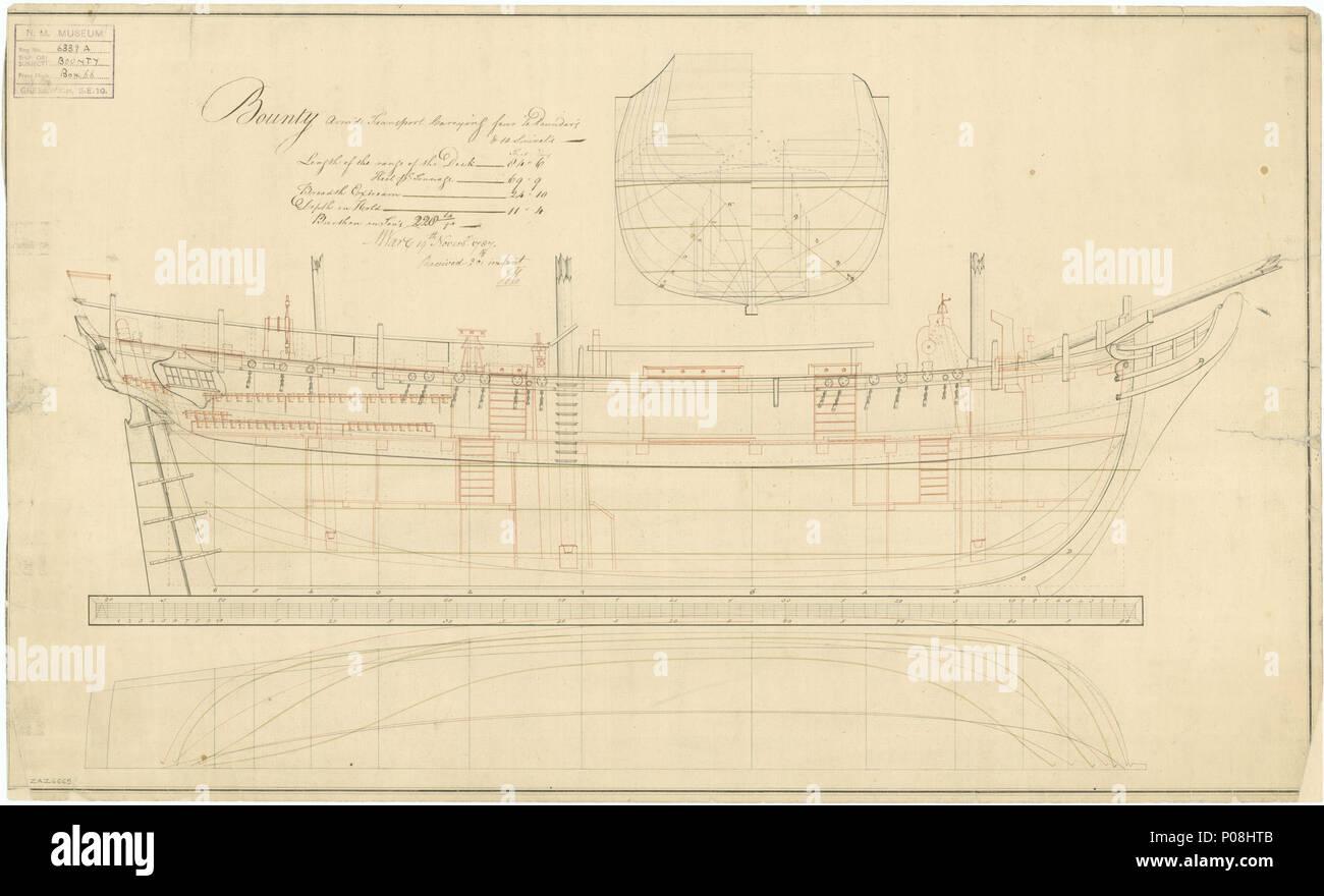Englisch Admiralty Schiere Entwurf Eines Schiffes Pläne Hms