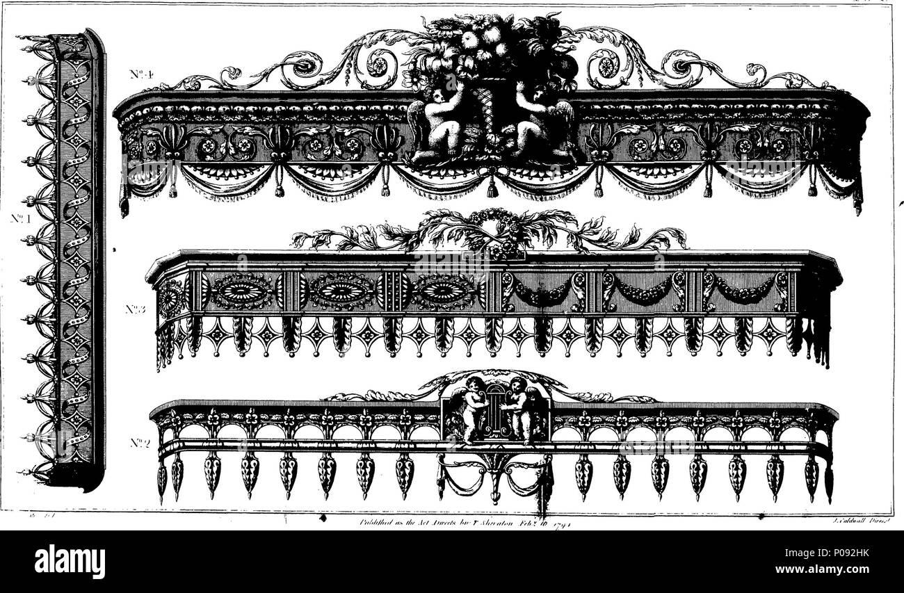 Englisch Fleuron Aus Buch Eine Begleitung Der Cabinet Maker Und