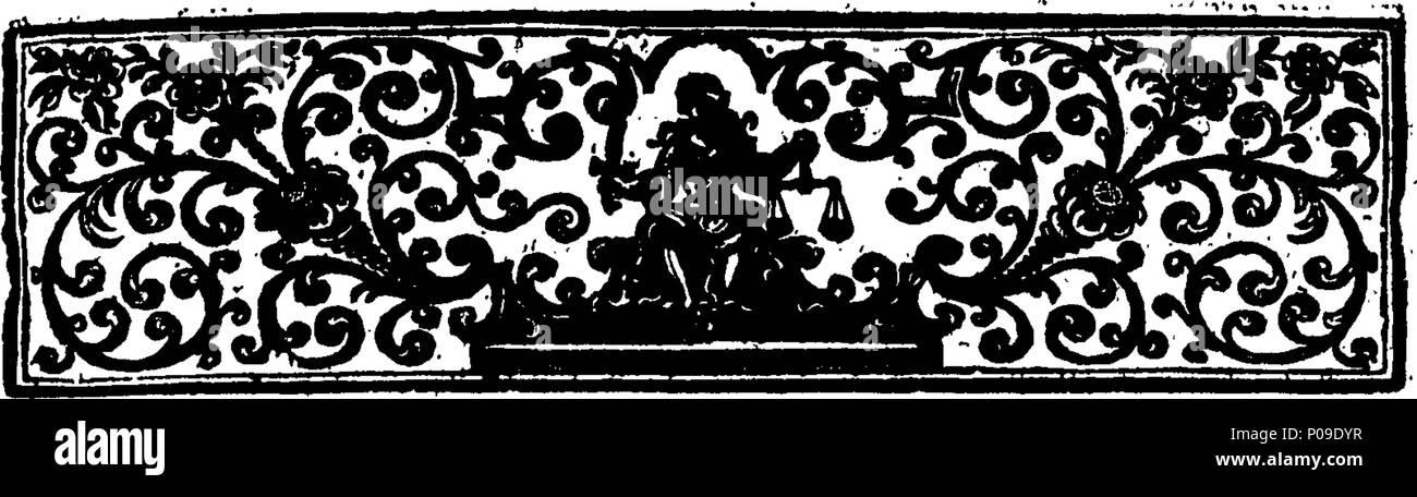 . Englisch: Fleuron aus Buch: Neues Wörterbuch, Spanisch und Englisch und Englisch und Spanisch. Mit der Etymologie, die ordnungsgemäße und metaphorische Bedeutung der Begriffe der Künste und Wissenschaften; Namen von Menschen, Familien, Orte und der wichtigsten Anlagen in Spanien und dem Westen - Inseln. Zusammen mit der Arabick und maurischen Worte... in der Spanischen Sprache, und eine Erklärung der schwierigen Wörtern, ... in Don Quixote,... Von Peter Pineda,... 147 ein neues Wörterbuch, Spanisch und Englisch und Englisch und Spanisch Fleuron T 134064-4 Stockbild