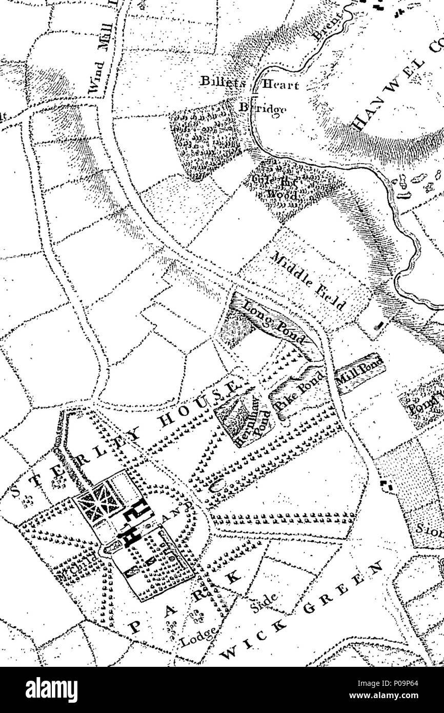 Karte London Stadtteile.Englisch Fleuron Aus Buch Eine Neue Und Genaue Ubersicht