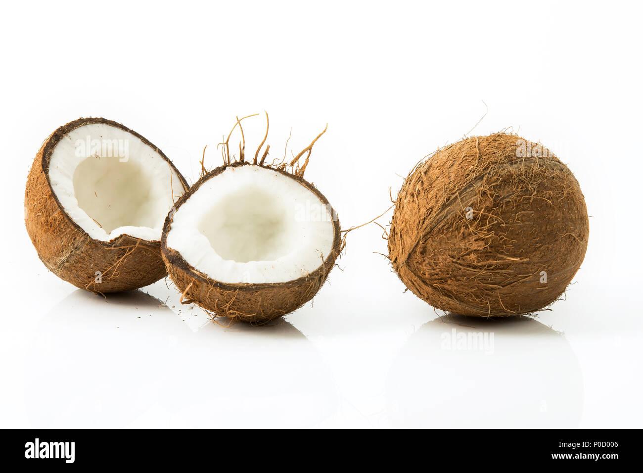 Kokosnüsse, Studio Stockfoto