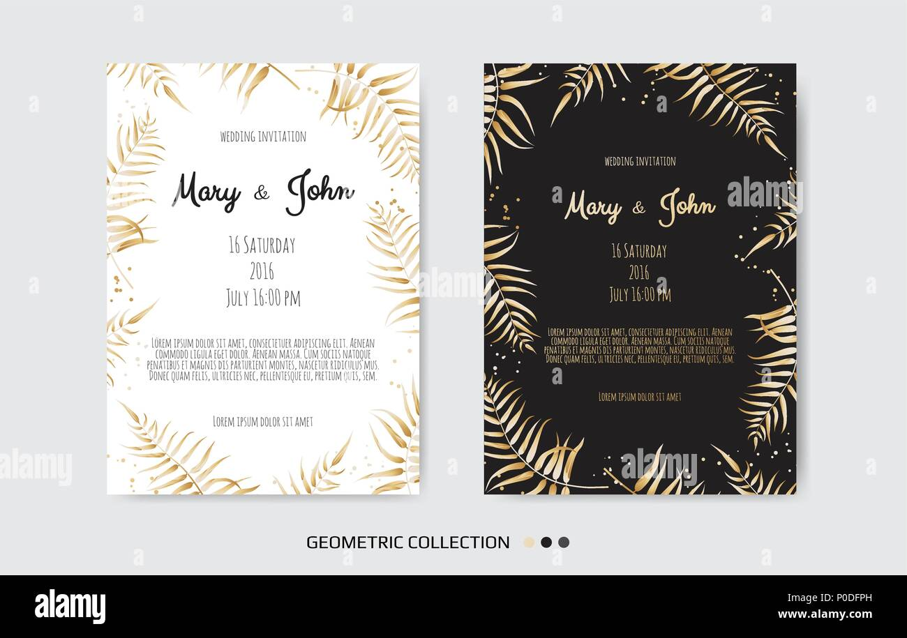 Jahrgang Einladung Hochzeit Vorlagen Cover Design Mit