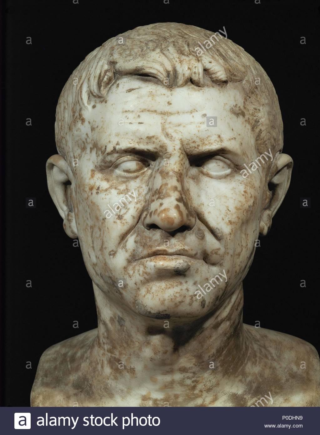 Mann mit einem gebrochenen Nasenbein. Marmorbüste. Lage: Museo ...