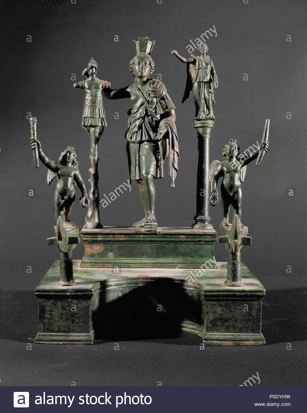 Cybele Rhea Nike Und Eros Lararium Mit Figuren Aus Bronze 2 4