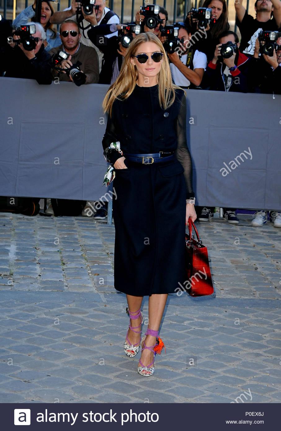 Olivia Palermo. Prominente nehmen an der Dior zeigen im Rahmen der ...