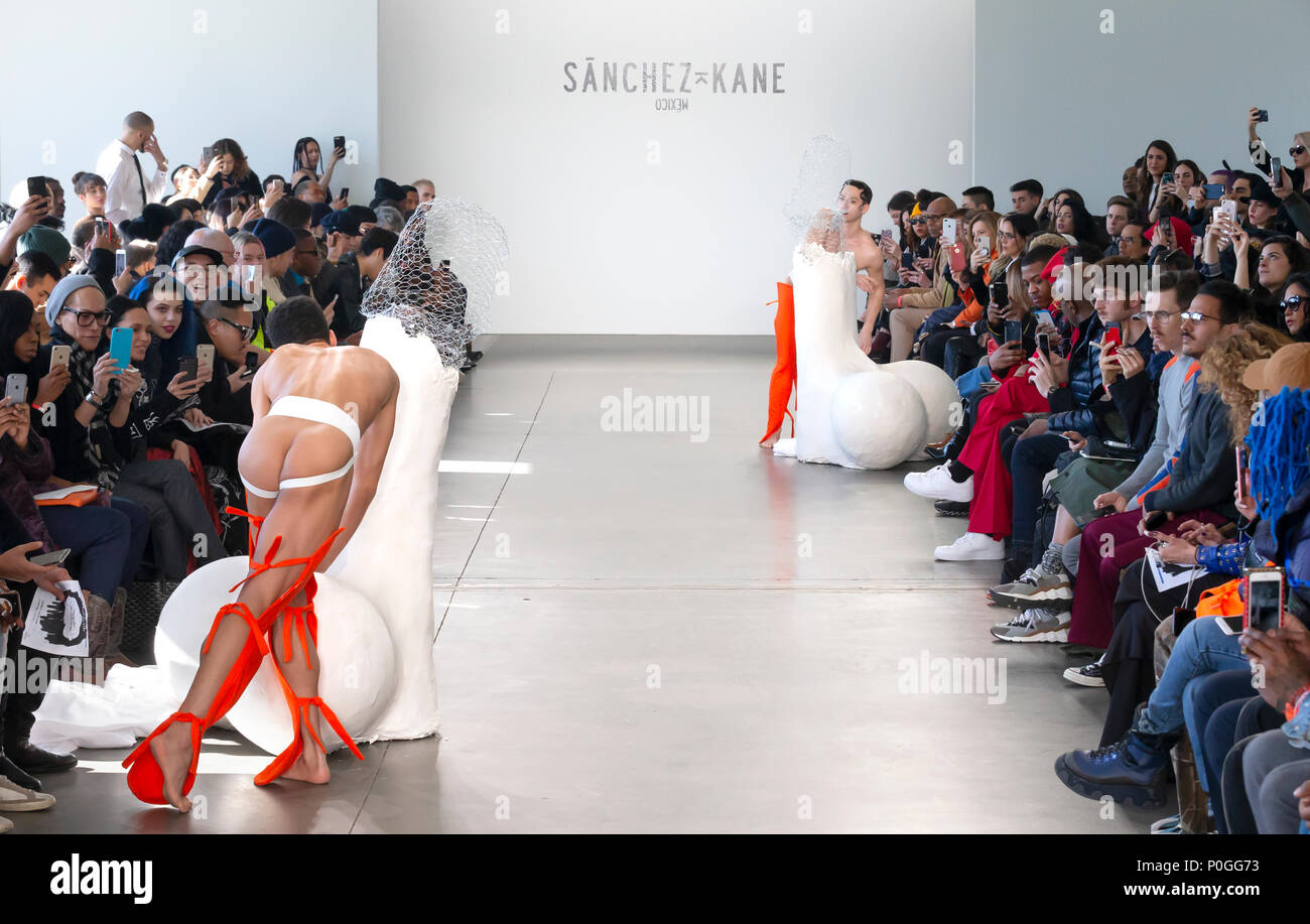 NEW YORK, NY - 05 Februar 2018: Tänzer am Sanchez-Kane Show