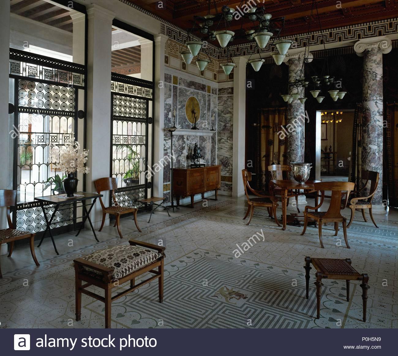 Erdgeschoss Flur Der Villa Kerylos, Modell Eines Griechischen Villa Um 450  V. Chr.