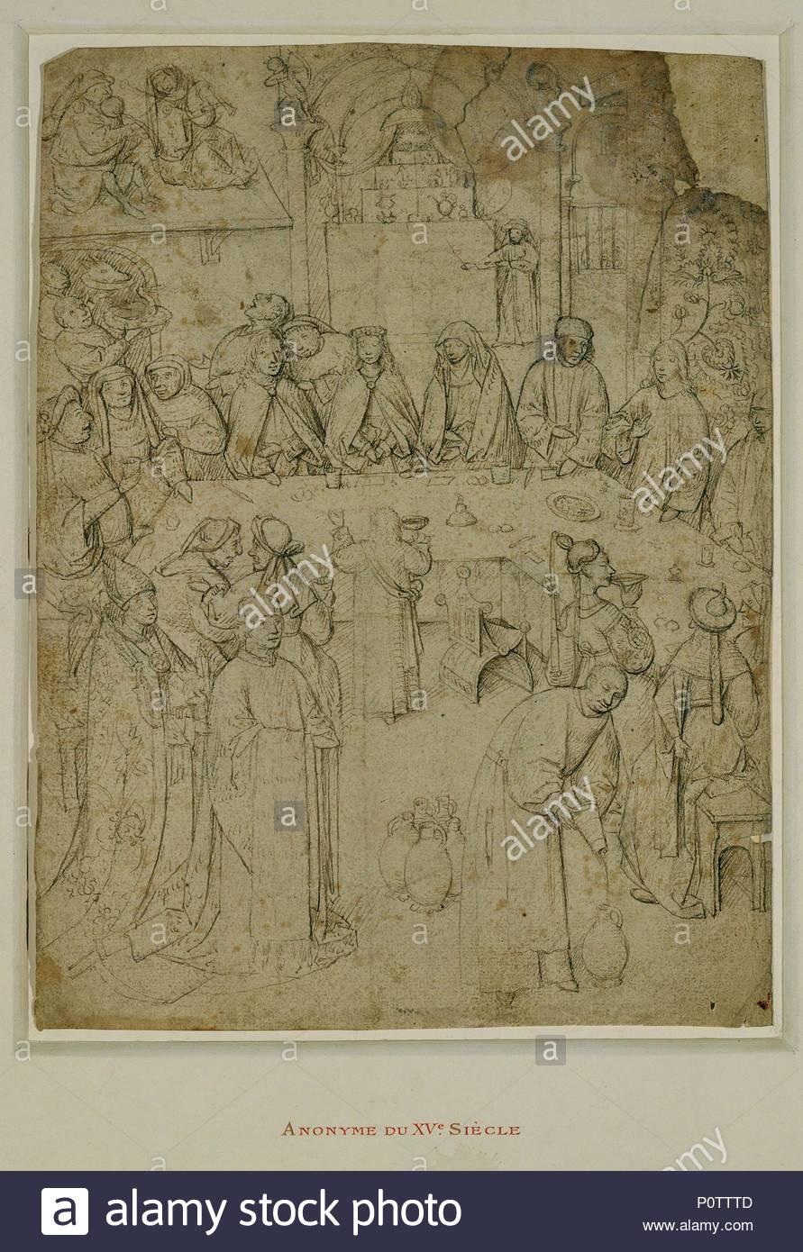 Die Hochzeit Von Kana Nach Hieronymus Bosch Plume Et Encre Brune