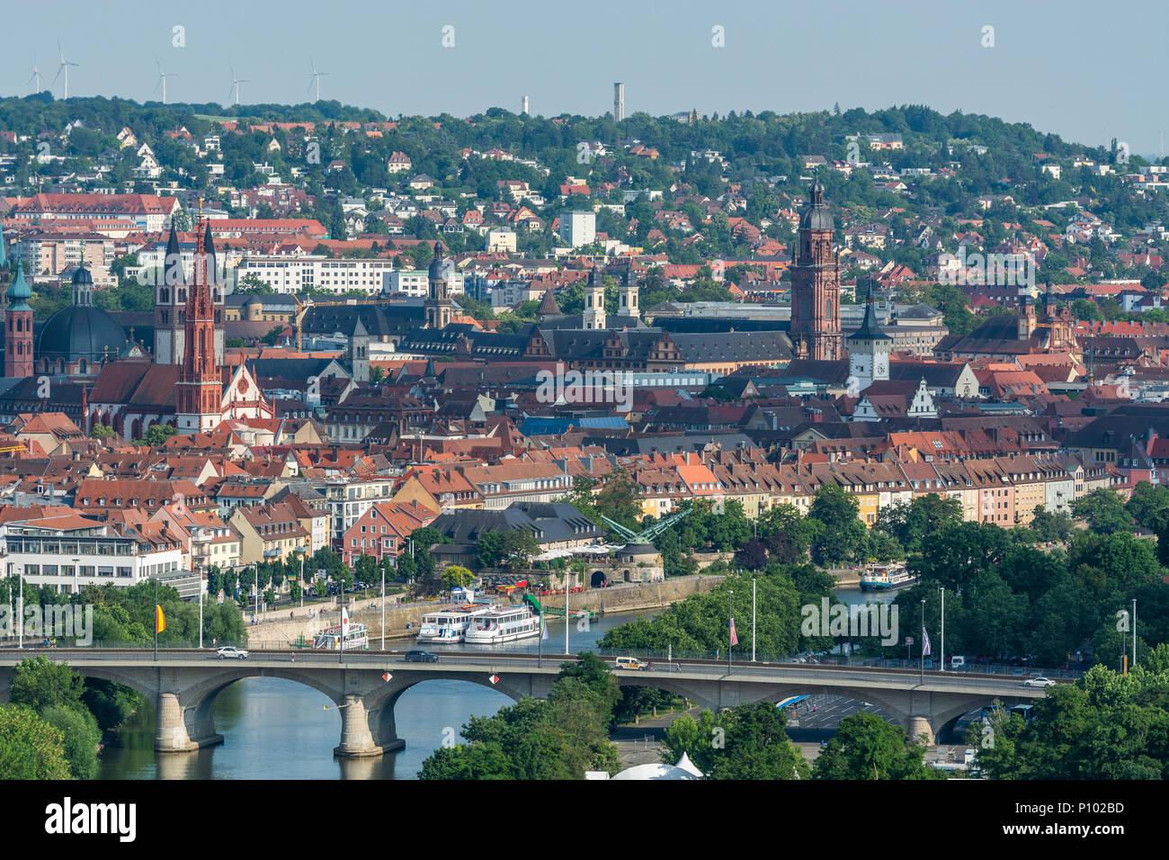 Dom, Neumünster, Würzburg, Deutschland Stockbild