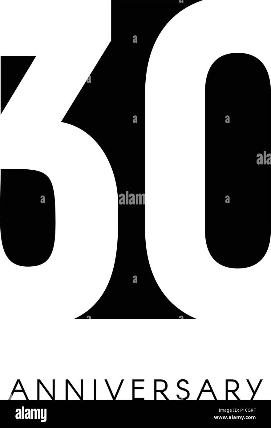30 Jahre, 30. Jubiläum, Grußkarte. Geburtstag Einladung. 30 Jahre  Unterzeichnen. Schwarz Negative Raumzeiger Abbildung Auf Weißen Hintergrund.