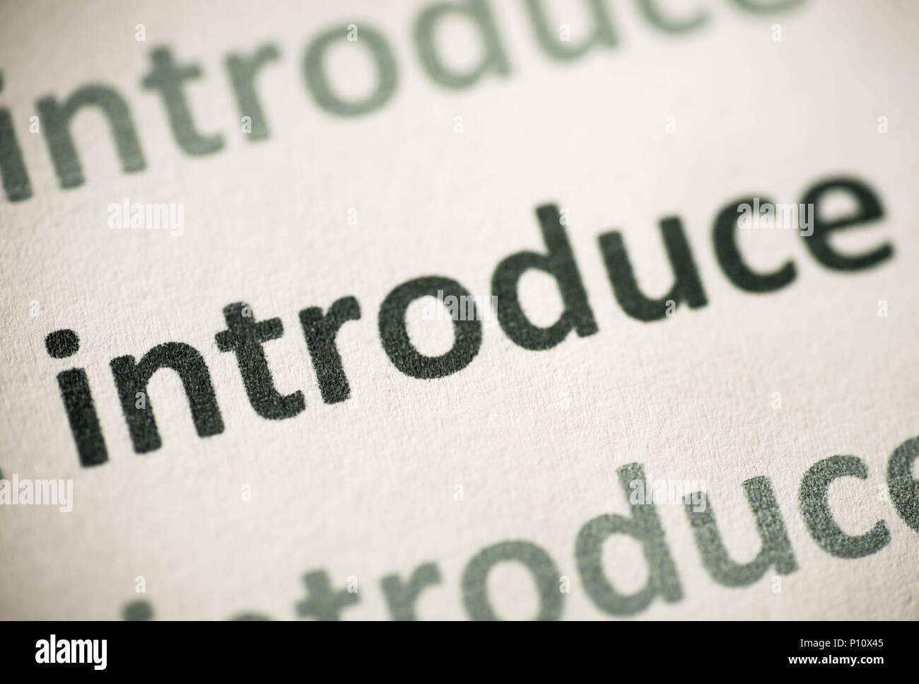 Word Makro auf weißem Papier gedruckten einführen Stockbild