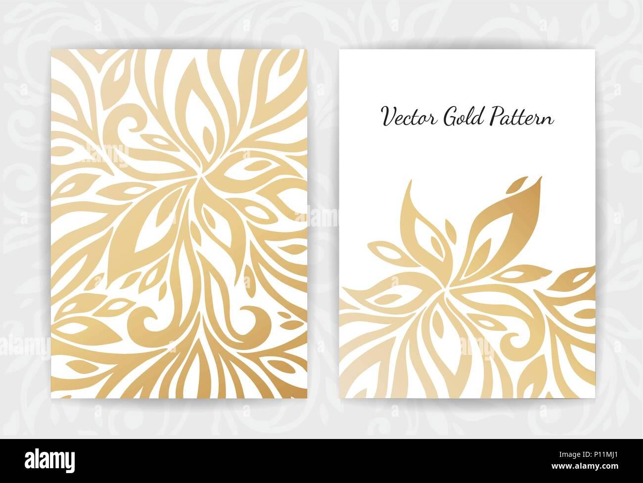 gold vintage grußkarte auf schwarzem hintergrund. luxus ornament