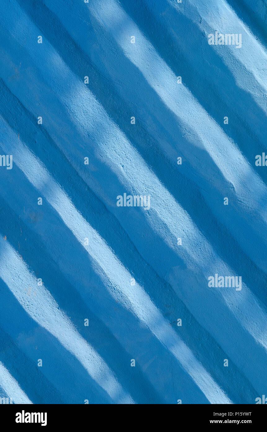 Toller Hintergrund mit einer Textur einer blauen Wand, Stil leben Stockbild