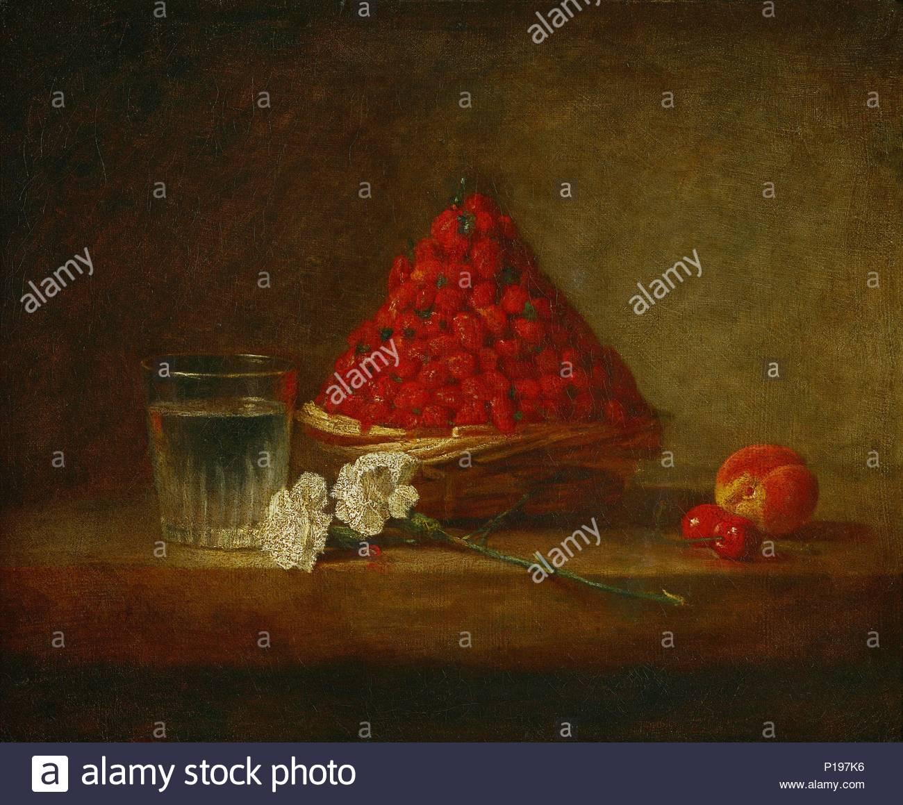 Le Panier De Fraises Des Bois Obstkorb Wilde Erdbeeren Leinwand