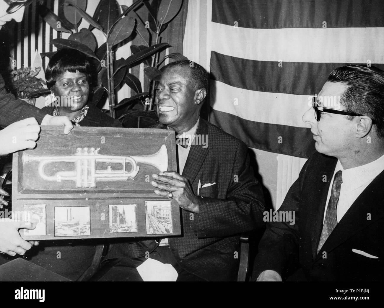 Louis Armstrong, 50 s Stockbild