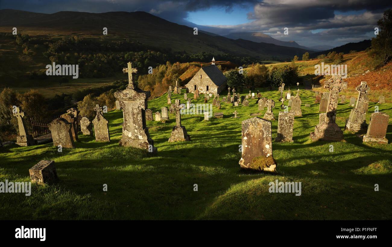 Europa, Schottland, Vereinigtes Königreich, England, Landschaft, cille Choi Rillen Kirche,, Europa, Schottland, Grossbritannien, Landschaft, Cille Choirill Chu Stockbild
