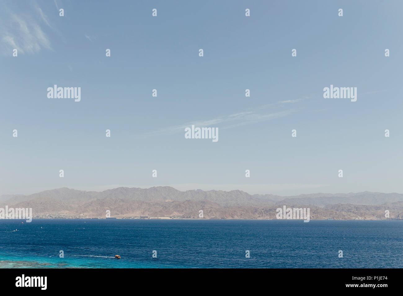 Landschaft Blick Auf Die Israelische Stadt Eilat Stadt Ferien