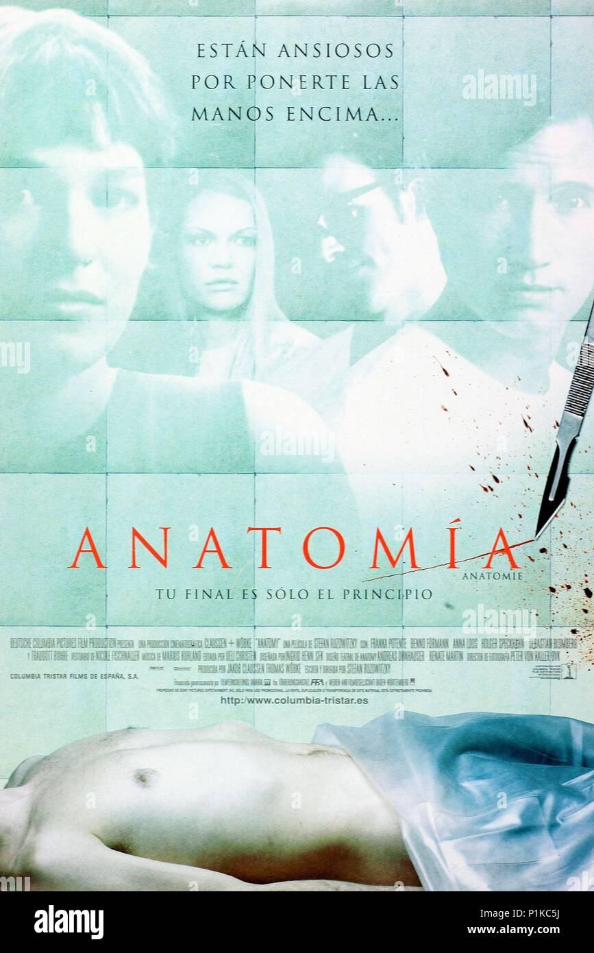 Original Film Titel: ANATOMIE. Englischer Titel: Anatomie. Regisseur ...
