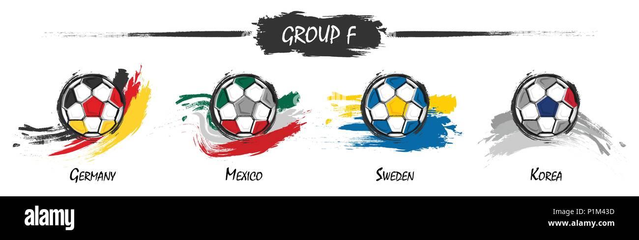 Satz Von Fussball Oder Fussball Nationalmannschaft Gruppe F