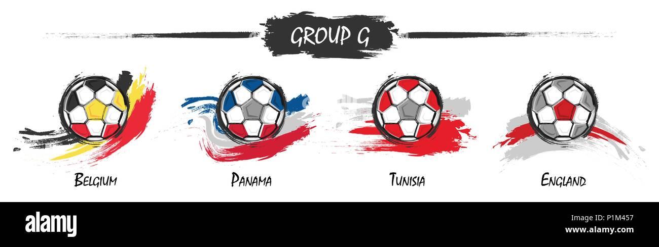 Satz Von Fussball Oder Fussball Nationalmannschaft Gruppe G