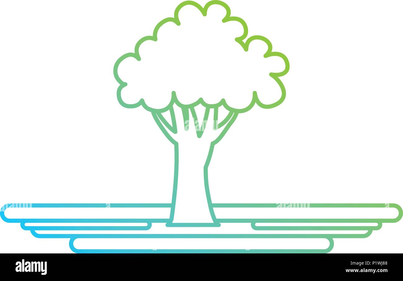 Ökologie baum Pflanze Symbol Stockbild
