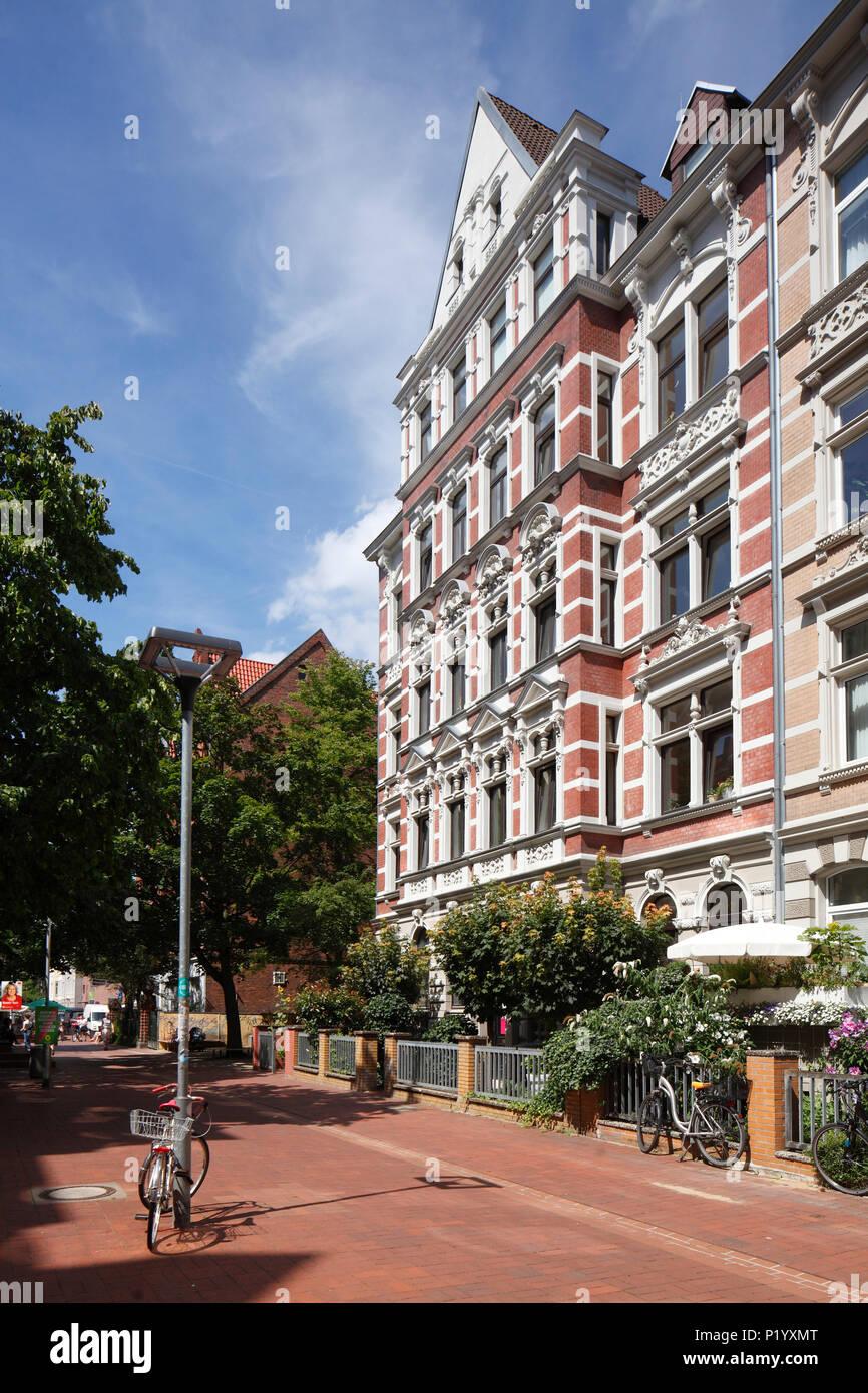 Altes Wohnhaus im klassischen Stil in Körtingstrasse, Hannover, Niedersachsen, Deutschland, Europa ich altes Wohnhaus in der Körtingstraße, Hannover, N Stockfoto
