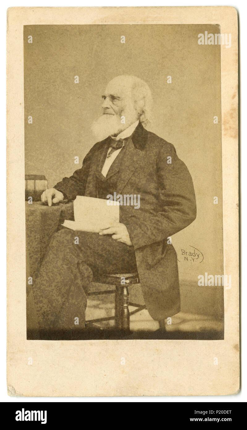 William Cullen Bryant 1794 1878 War Ein US Amerikanischer Romantischer Dichter Journalist Und Langjahriger Herausgeber Der New York