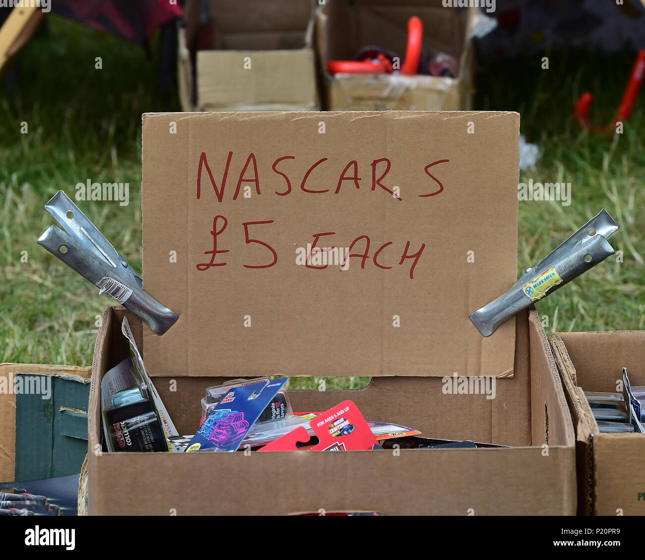 Racing auf der Billig, NASCAR Whelen Euro Serie, Amerikanische Speedfest VI, Brands Hatch, Juni 2018, Automobile, Autosport, Autos, Rundstrecke, Stockbild