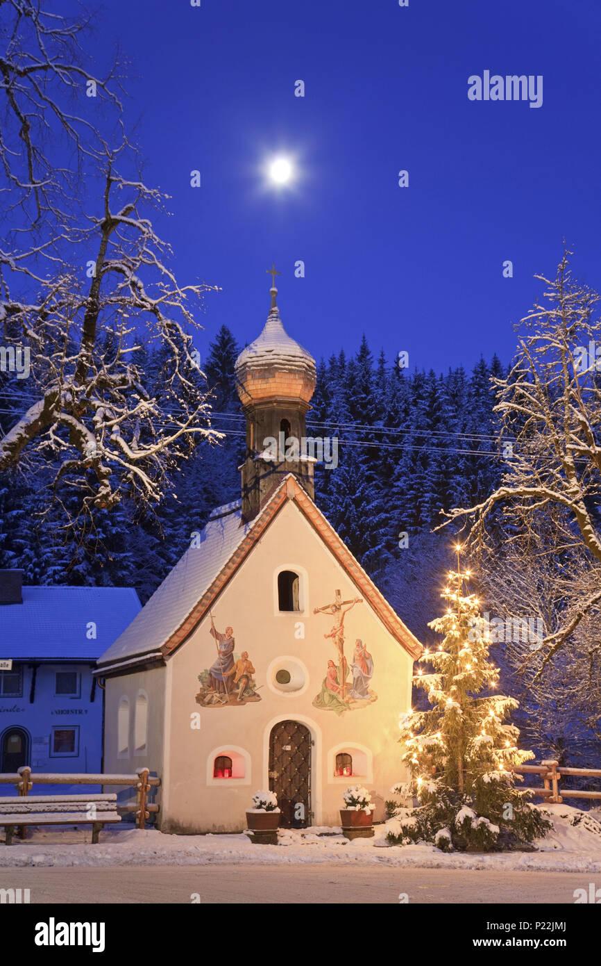 kapelle in klais zu weihnachten bayern deutschland. Black Bedroom Furniture Sets. Home Design Ideas