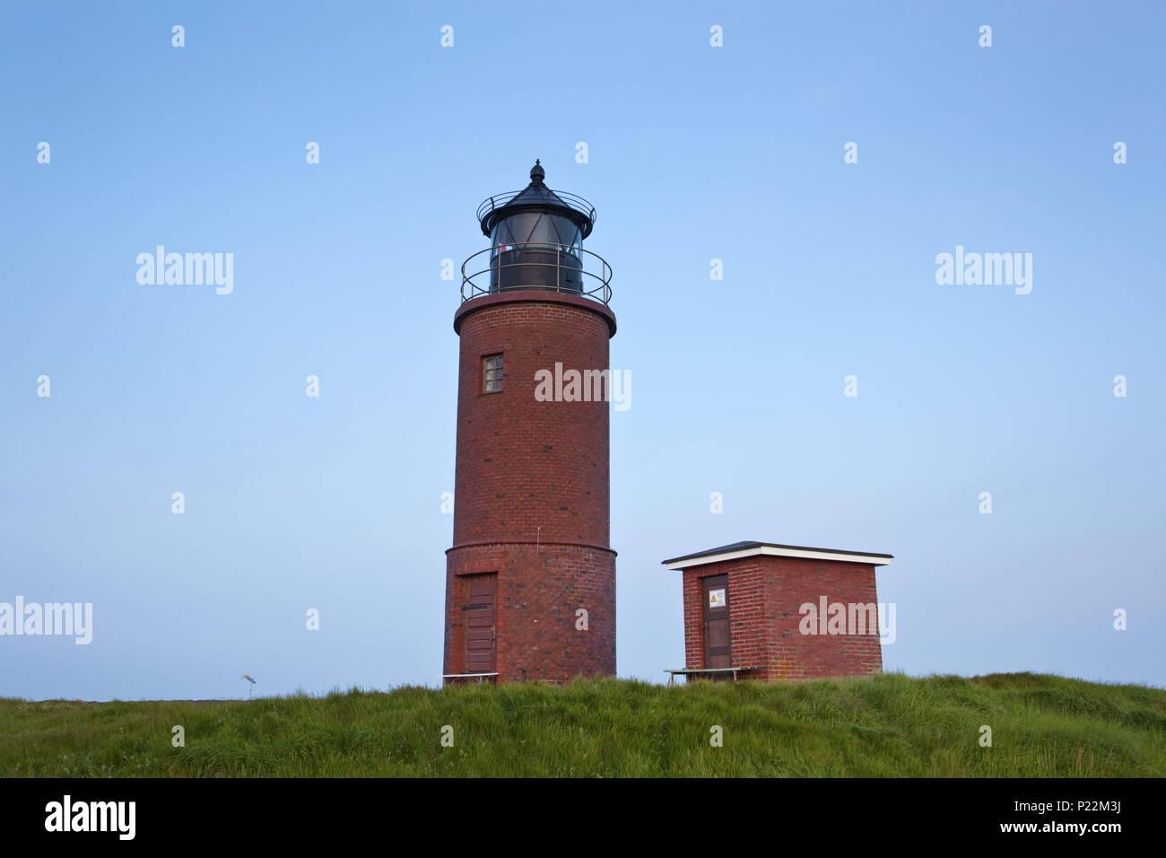 Leuchtturm Nordmarsch auf der Hallig Langene?, Nordseek?ste, Schleswig-Holsteinisches Wattenmeer, Nordfriesische Inseln, Schleswig-Holstein, sind Stockbild