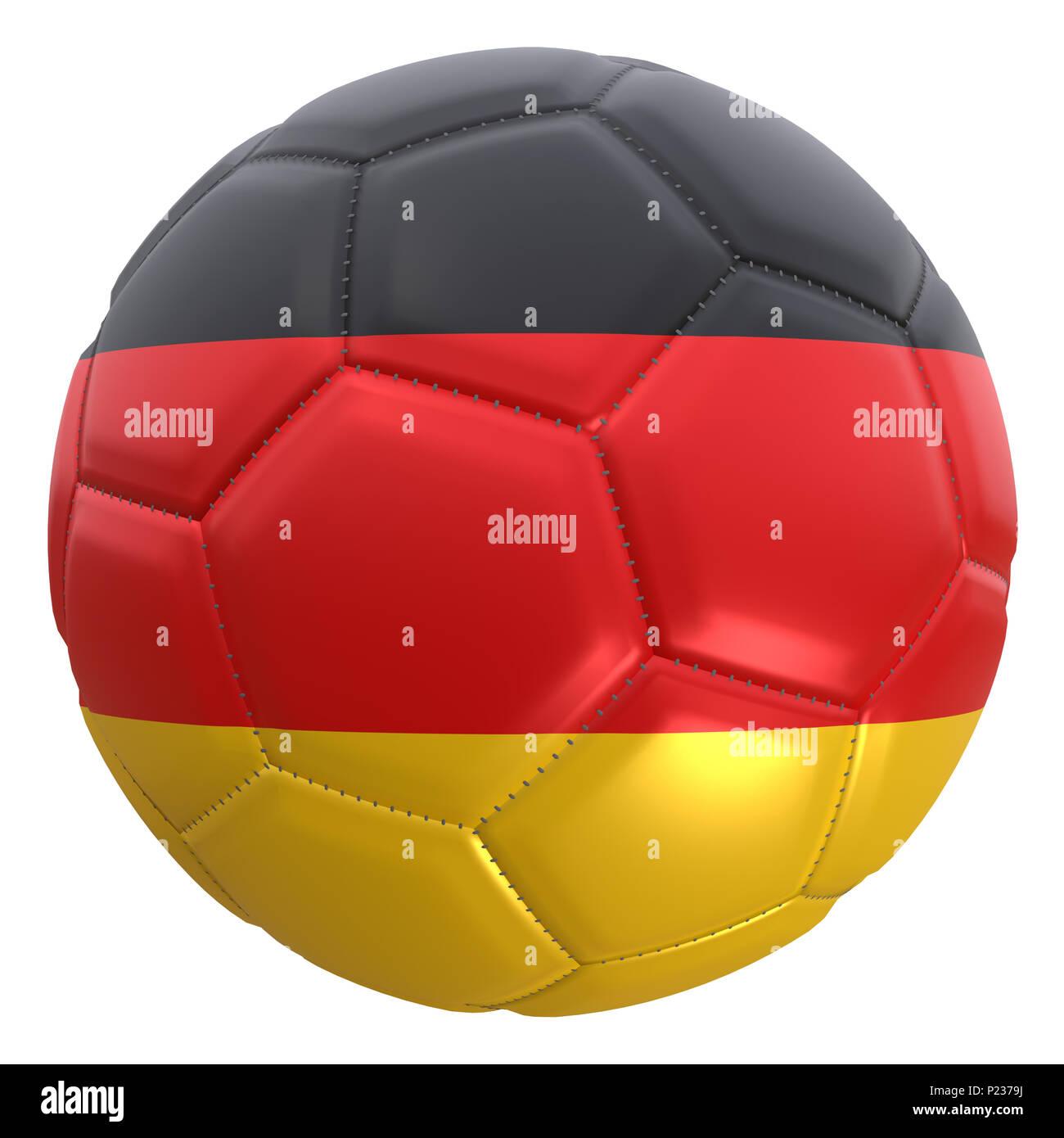 3d Rendering Fur Eine Deutschland Fahne Auf Einem Fussball