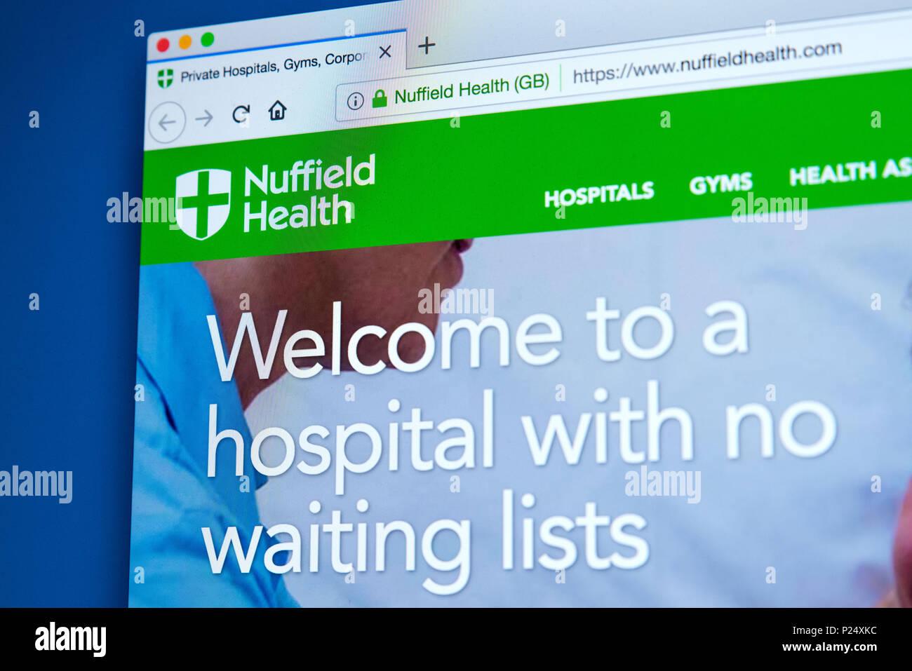 Nuffield Gesundheit Website Privat Stockfotos und  bilder Kaufen ...