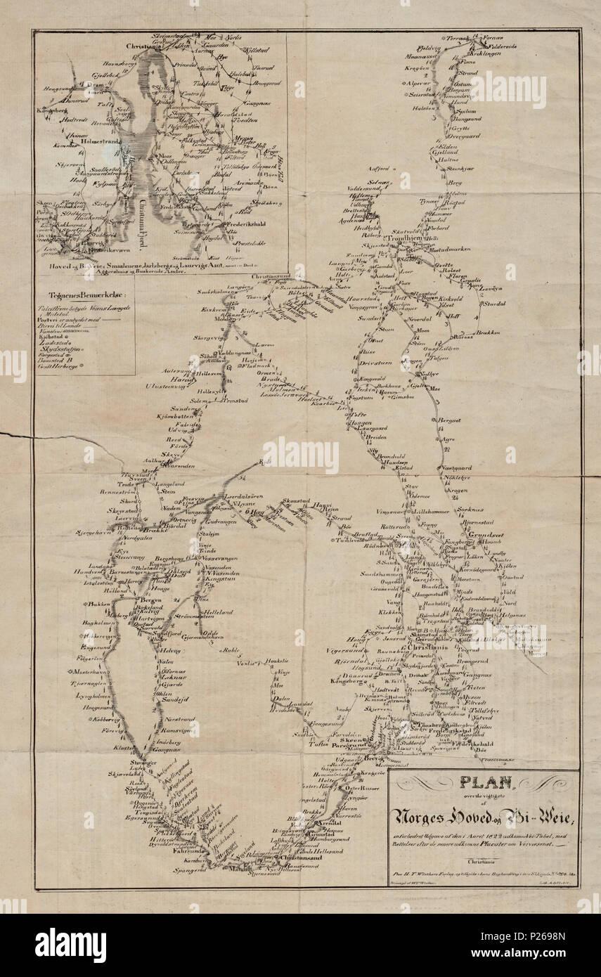 veikart kart norge Norsk Bokmål: Kart fra Nasjonalbibliotekets kartsamling. Er Kartet  veikart kart norge