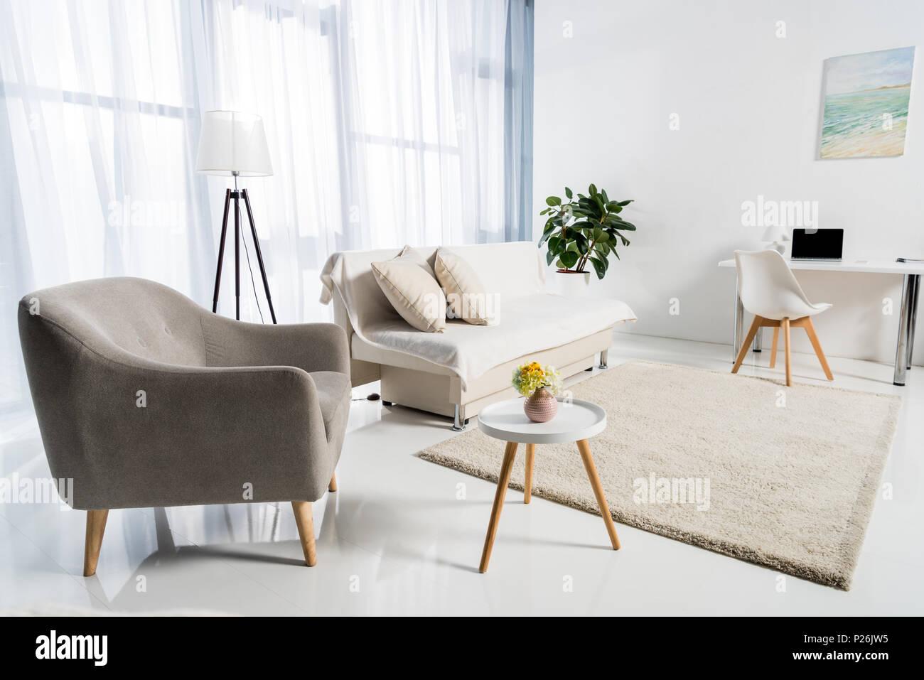 Gemutliches Wohnzimmer Einrichtung In Pastelltonen Dekoriert