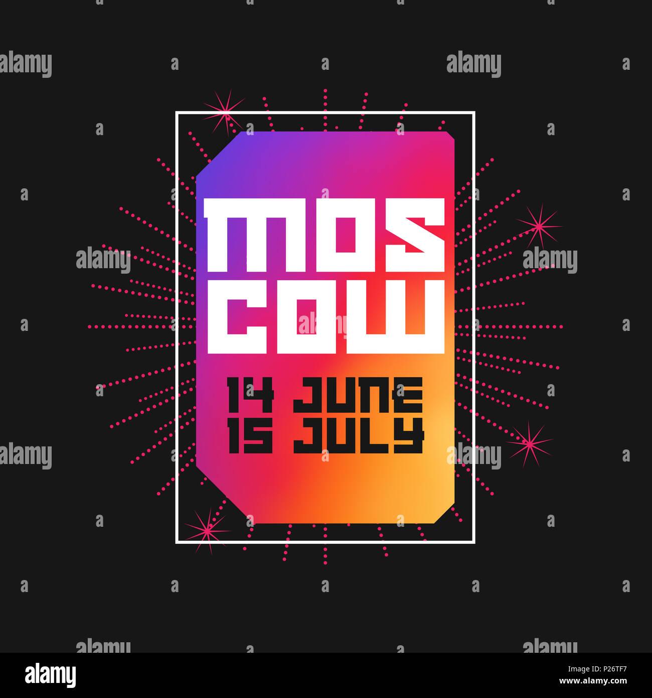 Moskau, 14. Juni - 15. Juli 2018. Moderne Kunst Rahmen. Vorlage für ...