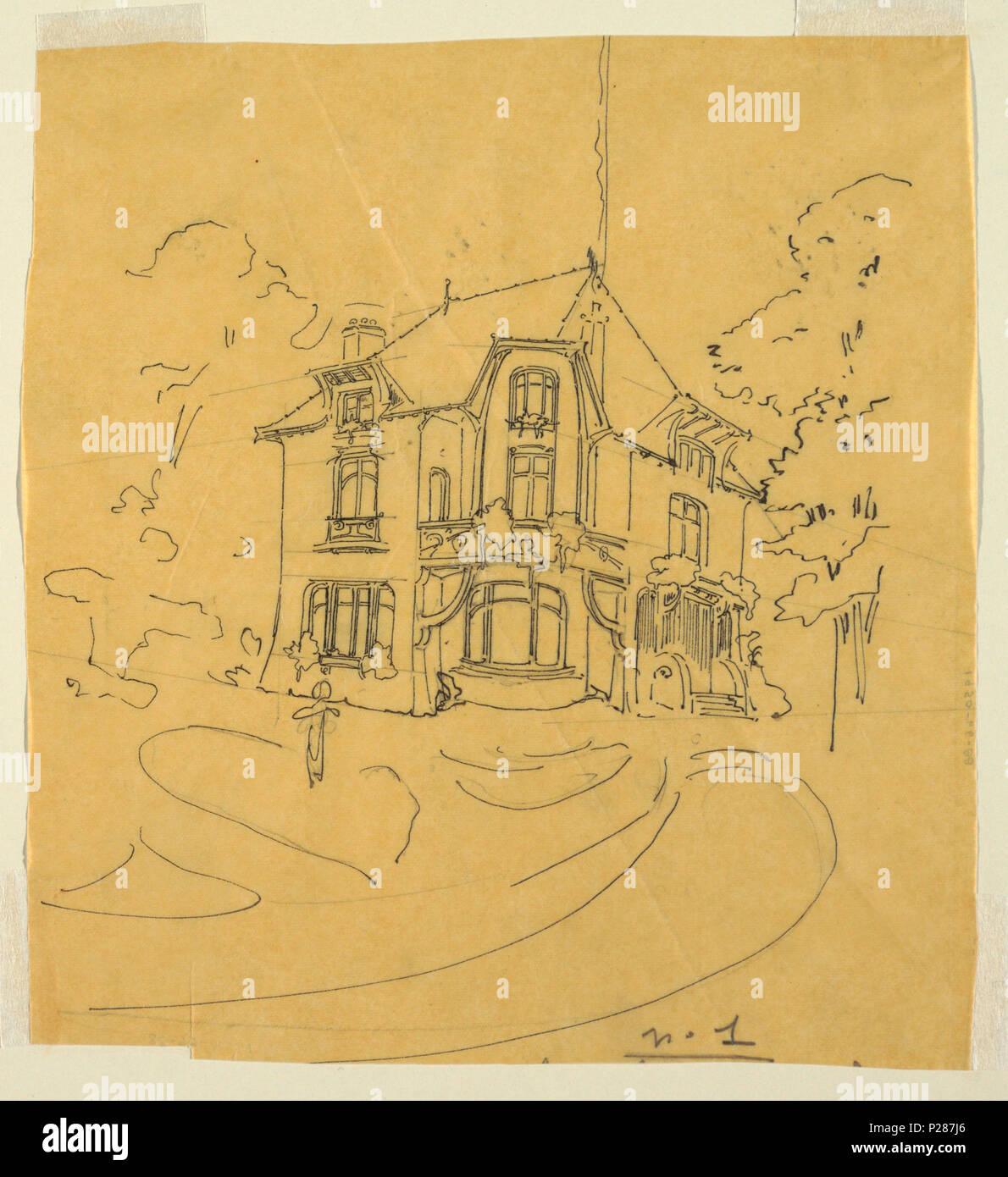 Englisch Zeichnen Design Für Eine Private Residenz Ca 1900