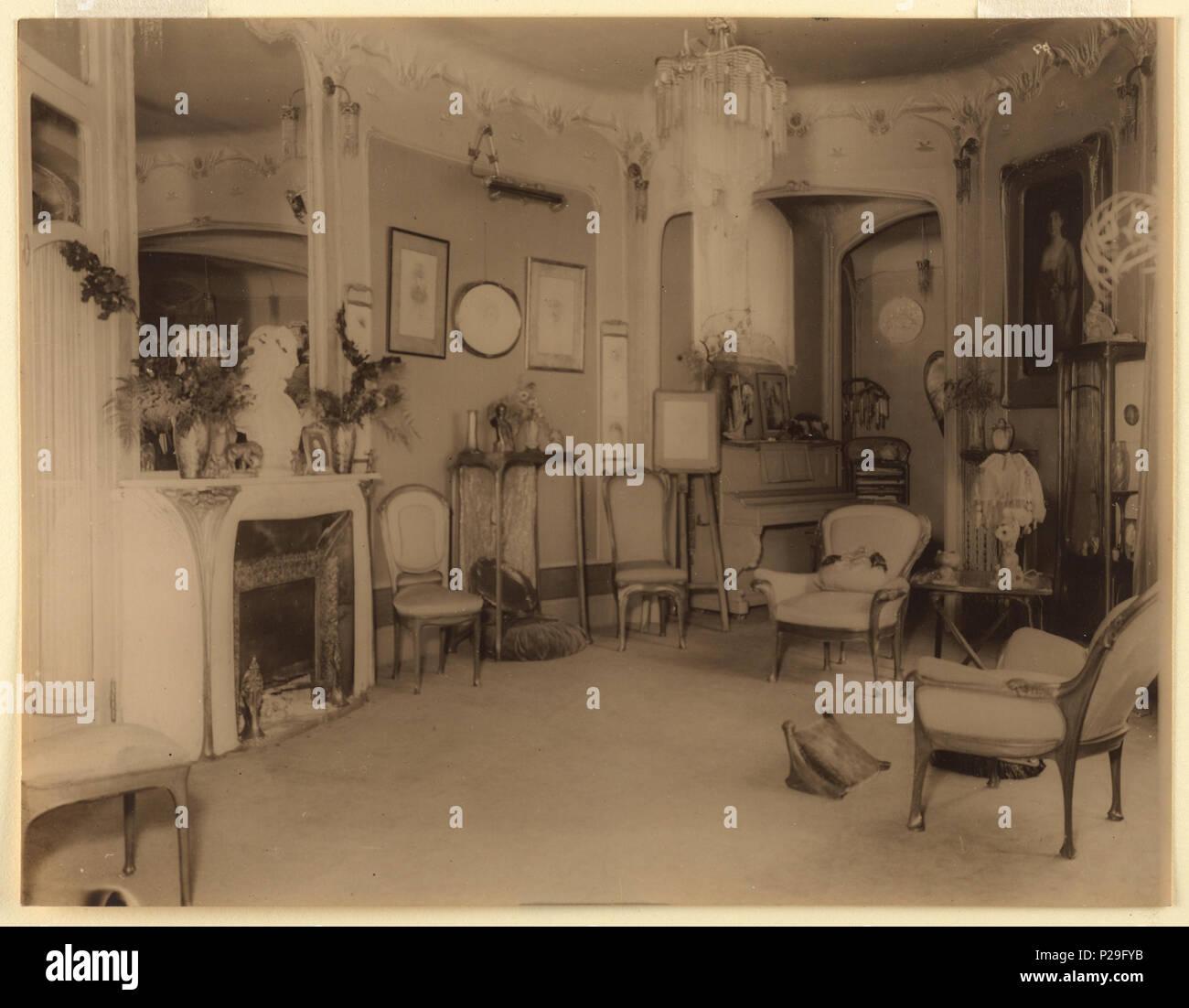 Englisch Fotografieren Haus Von Hector Guimard Ca 1910 Englisch Innenansicht Der Salon Von Hector Guimard Haus