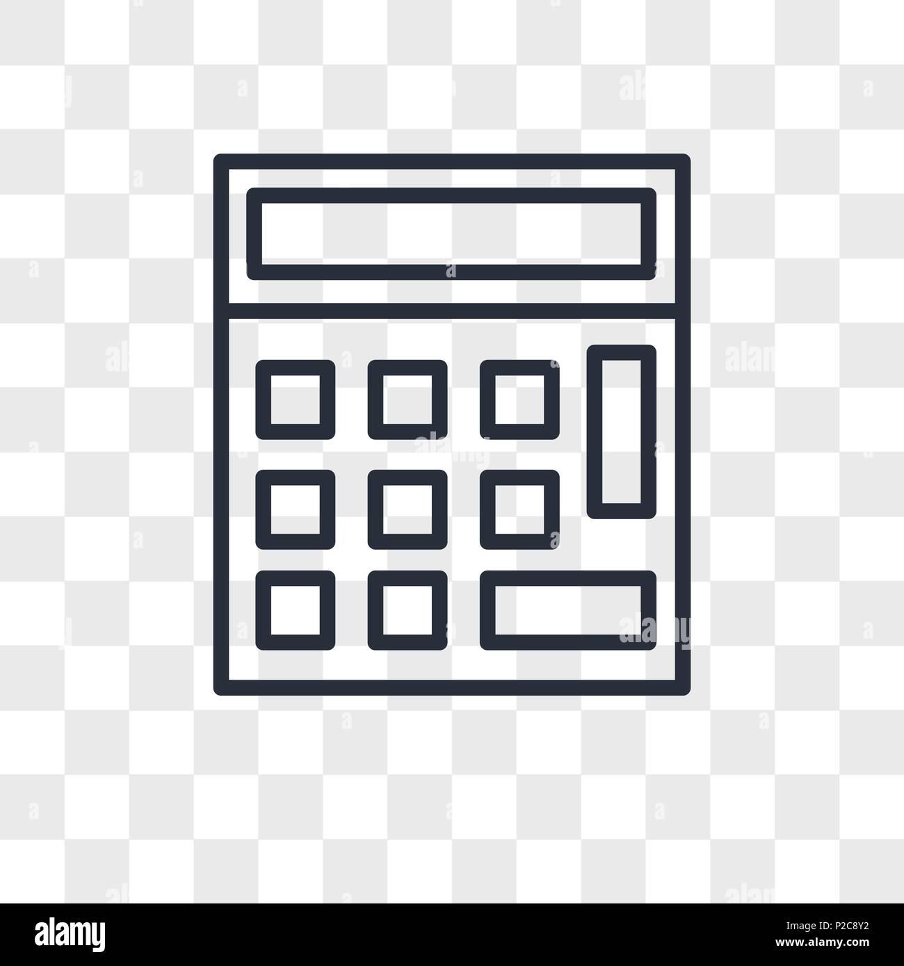 Taschenrechner Vektor Icon Auf Transparentem Hintergrund Isoliert