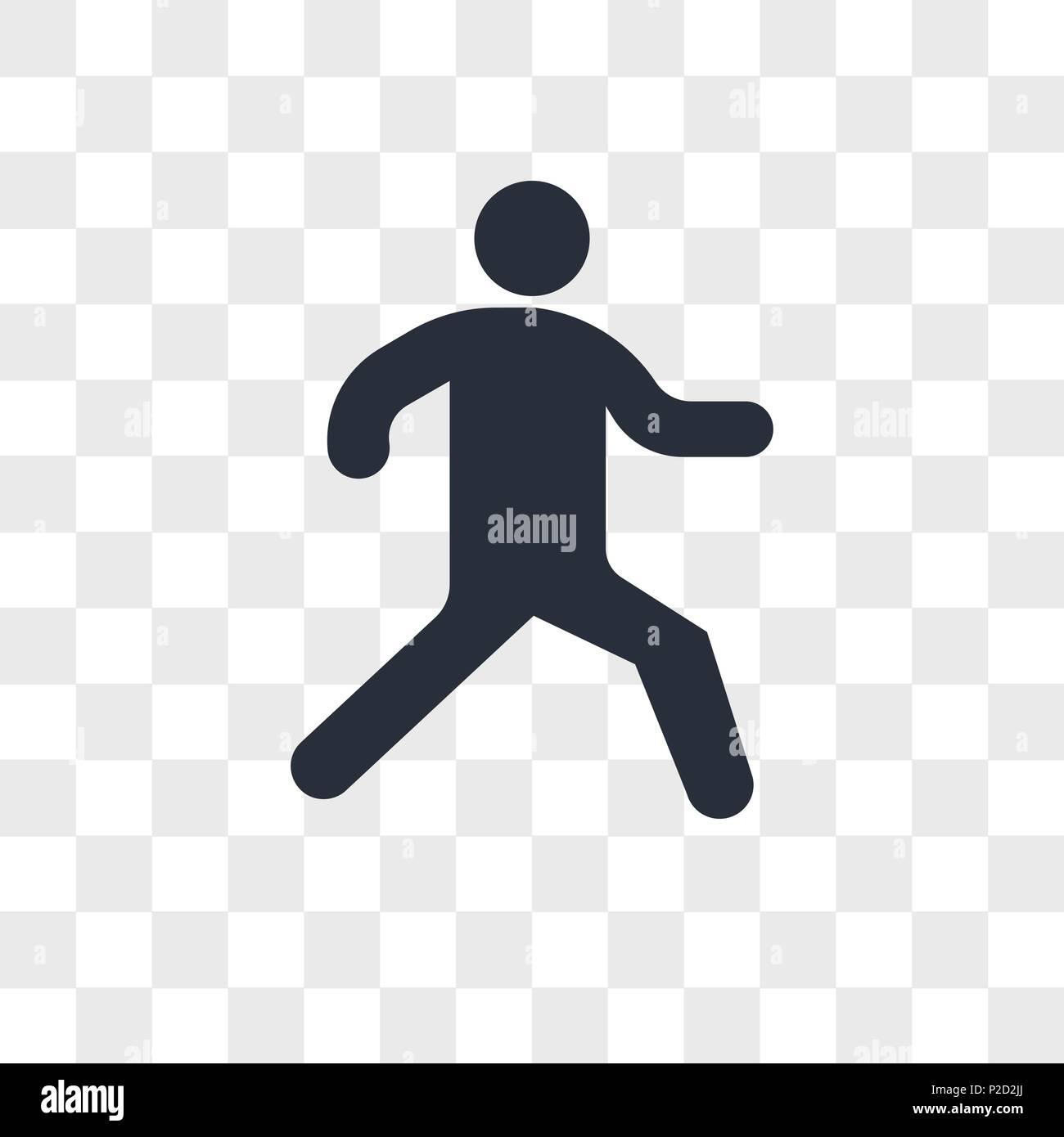 Laufende Person Vektor Icon Auf Transparentem Hintergrund Isoliert