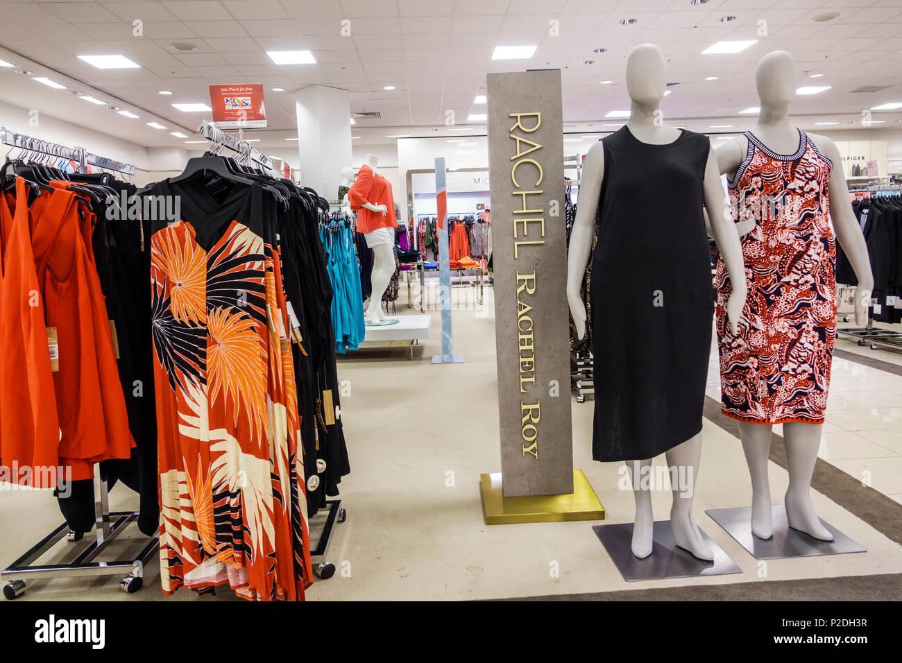 Florida Jensen Beach Macy Kaufhaus innen shopping Frauen plus die Größe-kleidung  kleider Rachel Roy 15fb7e9b16