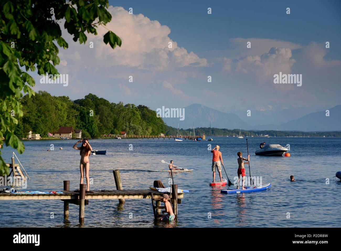 In der Nähe von Ambach am Starnberger See, Oberbayern, Bayern ...
