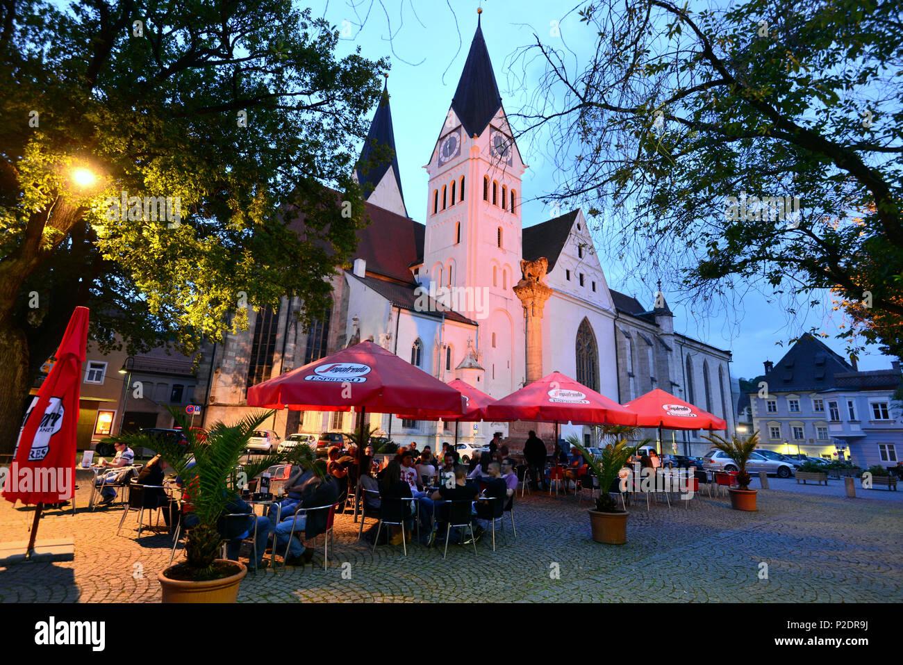 Dom Domplatz am Abend, Eichstätt, Altmühltal Valley, Oberbayern, Bayern, Deutschland Stockbild