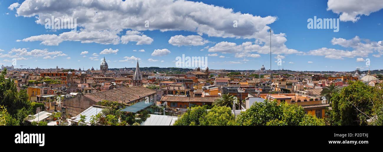 Panorama der Stadt Rom, Italien Stockbild