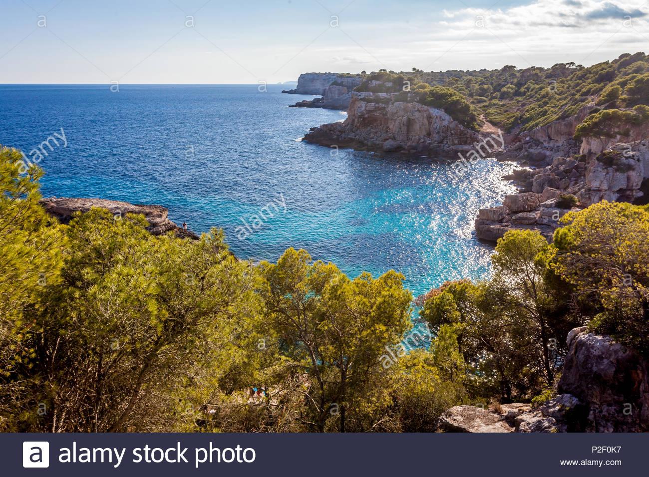 Idillischer Strand Cala S'Almunia, Mallorca, Balearische Inseln, Spanien ** idyllischen Strand von Cala S'Almunia, Mallorca, Balearen, Spanien Stockbild