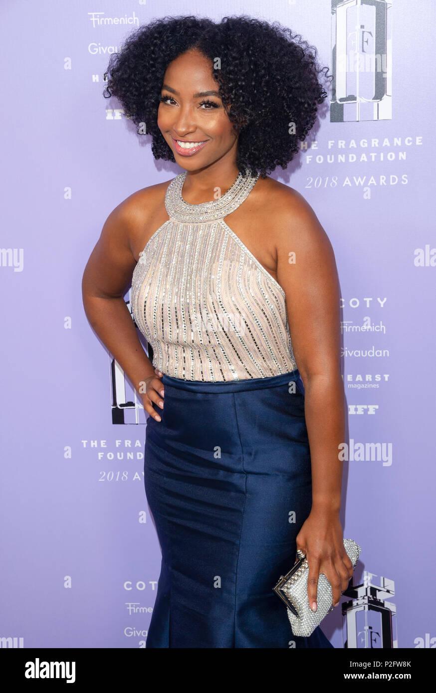 New York, NY - 12. Juni 2018: Tiff Benson besucht 2018 Fragrance Foundation Awards in der Alice Tully Hall im Lincoln Center Stockbild